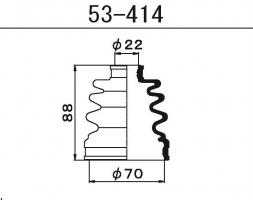 Пыльник ШРУСа Maruichi 53-414