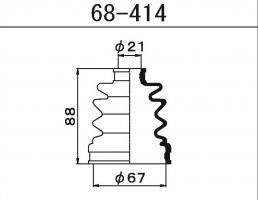 Пыльник ШРУСа Maruichi 68-414
