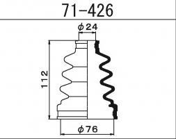 Пыльник ШРУСа Maruichi 71-426