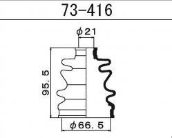 Пыльник ШРУСа Maruichi 73-416