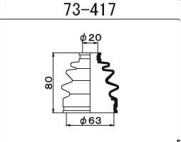 Пыльник ШРУСа Maruichi 73-417