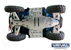 Комплект защиты днища ATV Polaris Sportsman Touring twin 850 efi (7частей) (2010-15)