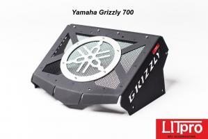 Комплект выноса радиатора для Yamaha Grizzly 550/700 Litpro серебро, алюминиевый